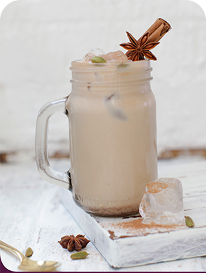Free from iced coconut chai latte